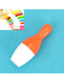 Arrowhead Orange Flexible Bowling Shape Design