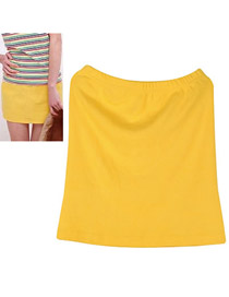 Fishing Yellow Fit Sile A Shape Skirt Cotton Dress-Skirt