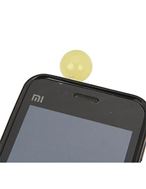 Sample Brilliant Yellow Round Shape Acrylic Mobile phone products