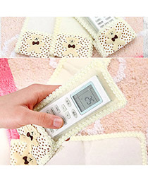 Korean creativity fashion lovely bear lace remote control cover (1pcs price)