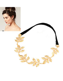 Stylish Gold Color Olive Branch