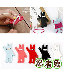 Roll Color will be random Bunny Shape Design Rubber Cord Fixer