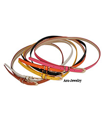 Kinetic Color will be random Candy Color Buckle Pu Leather PU Korean belts