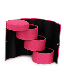 2012 Plum Red Cylinder Shape  Design PU Jewelry box