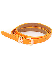 Ferret Orange Star Pendant Pu Letaher Thin PU Thin belts