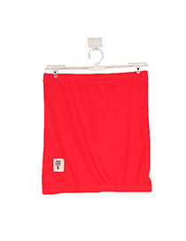 Montgomery Watermelon Red Fit Silm A Shape Design Cotton Blends Dress-Skirt