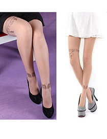 Korean personality fashion ultra thin wing pattern pantyhose sockings (Wings)