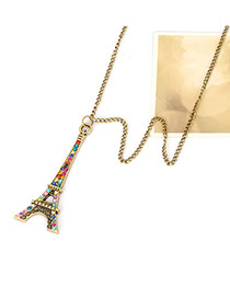 Antique Multicolour Eiffel Tower Pendant