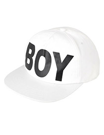 Promo White Girl Boy Word Cotton Fashion Hats