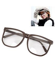 Rhinestone With Coffee Frame Fashion Big Frame Charm Design Plastic Fashon Glasses