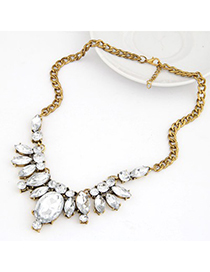 Facial White Gemstone Decorated Chain Design