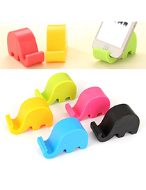 Bodybuildi Color Will Be Random Elephant Shape Design Plastic Phone holder