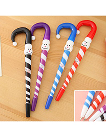 Blank Color Will Be Random Umbrella Shape Design Plastic Writing Pens