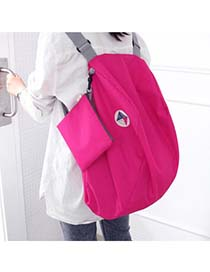 Trendy Pink Pure Color Decorated Cartoon Ears Shape Backpack