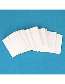 Softshell White Earring Jewelry Accessory (100pcs)