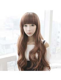 Bendable Dark Brown Five Clips Curly Style High-Temp Fiber Wigs