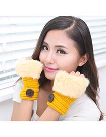 Charm Yellow Half Fingerless Design