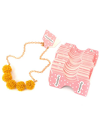 Everlas Pink Necklace And Bracelet (200pcs)