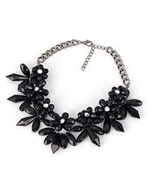 Moving Dark Purple Big Flower Cone Shape Alloy Fashion Necklaces