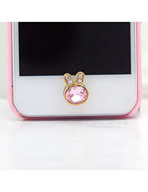Micro Pink Rabbit Shape Iphone Style
