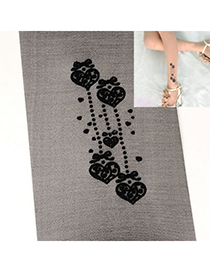 Stainless Black Heart Spot Pattern Yarn Fashion Stockings