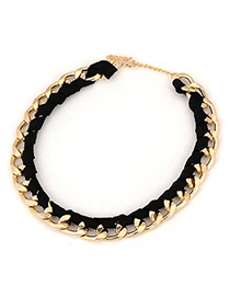 Winding Gold Color Hand Shape Decorated Simple Design Alloy Chains