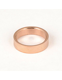 Splendid Rose Gold Color Simple Pattern Design
