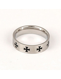 Gored Silver Color Simple Cross Pattern