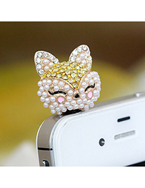 Cranes Yellow Cartoon Fox Design Alloy Mobile phone products
