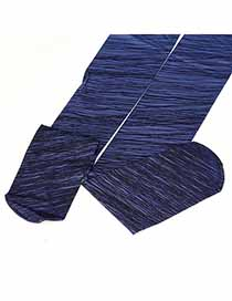 Childrens Blue Gradient Disorderly Lines Design Velvet Fashion Stockings