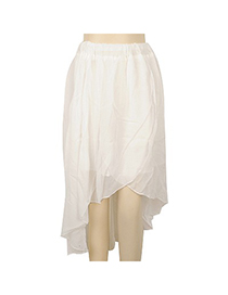 High White Irregularity Charm Design Georgette Dress-Skirt