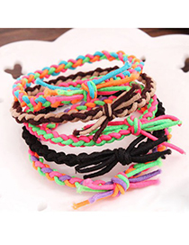 Promo Color Will Be Random Handmade Weave Braids Design Rubber Band Hair band hair hoop
