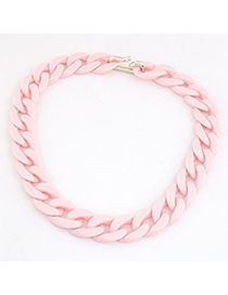 Hippie Pink Candy Color Simple Chain Design