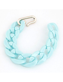 Korean Light Blue Candy Color Simple Chain Design