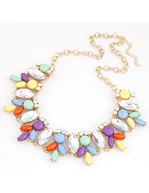 Inexpensiv Multicolor Metal Inlaid Abstract Bee Design Alloy Korean Necklaces