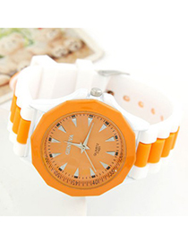 Steelers Orange Candy Color Geometric Shape Casual Design Alloy Ladies Watches