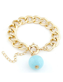 Velvet light blue metal chains simple design alloy Korean Fashion Bracelet