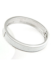 Volcom silver color round shape simple design