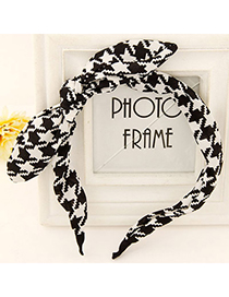 Barbie black & white bowkont decorated irregular pattern design fabric Hair band hair hoop