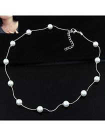 Fashion White Pearl Decorated Simple Design