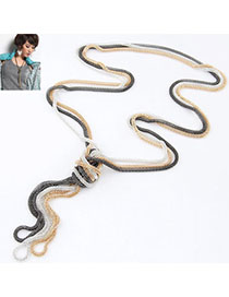 Fantasy Multicolor Metal Chains Weave Simple Design