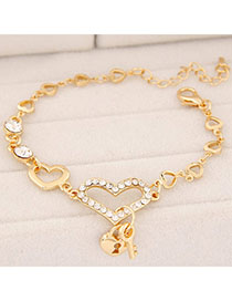 Photograph Gold Color Heart Shape Decorated Simple Design