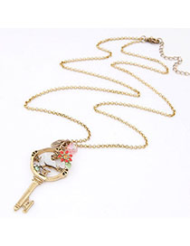 Wide Multicolor Gemstone Decorated Bird Shape Design Alloy Chains