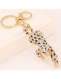 2012 Black Diamond Decorated Leopard Shape Design Alloy Fashion Keychain