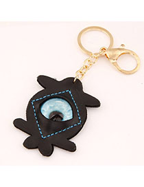 Lariat Black Eye Shape Decorated Simple Design Alloy Fashion Keychain