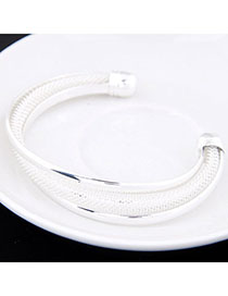 Amethyst White Metal Decorated Simple Design Alloy Fashion Bangles