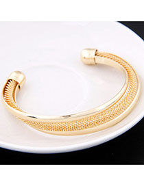 Nice Gold Color Metal Decorated Simple Design