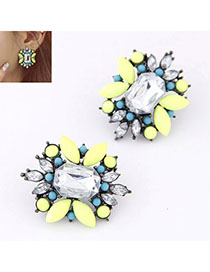 Fingerprin Yellow Diamond Decorated Flower Design
