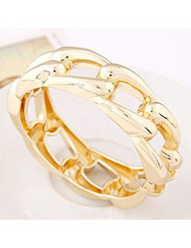 Designs Gold Color Pure Color Weave Simple Design Alloy Fashion Bangles