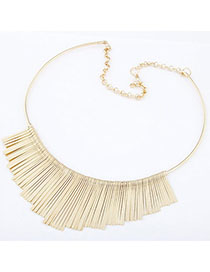 Friendship Gold Color Pure Color Tassel Simple Design